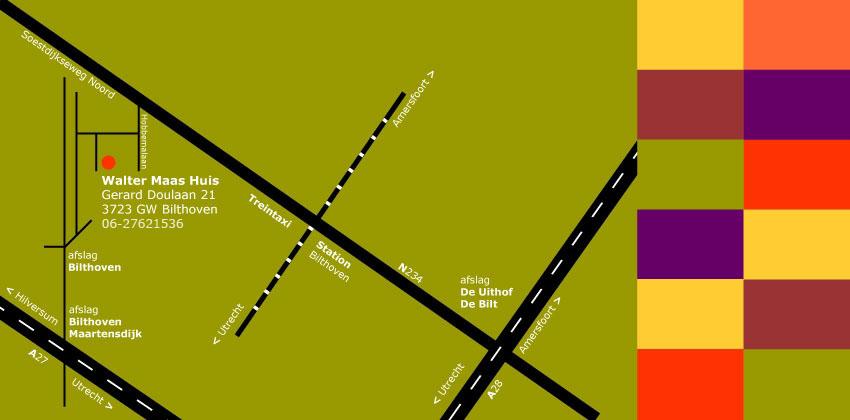 Bijgaand een route overzicht naar ons adres